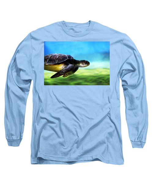 Green Sea Turtle 2 Long Sleeve T-Shirt by Marilyn Hunt