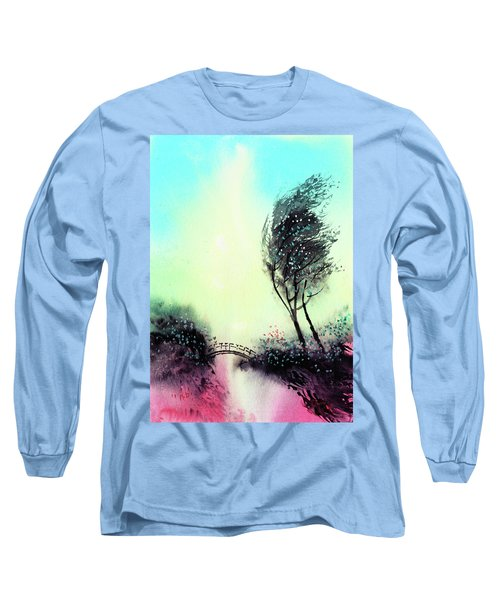 Long Sleeve T-Shirt featuring the painting Greeting 1 by Anil Nene