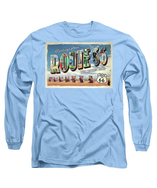 Greetings From Route 66 Long Sleeve T-Shirt