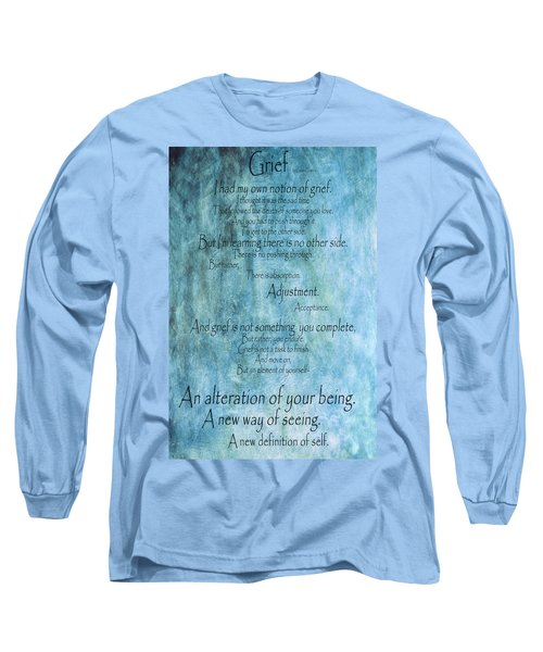 Long Sleeve T-Shirt featuring the mixed media Grief 2 by Angelina Vick