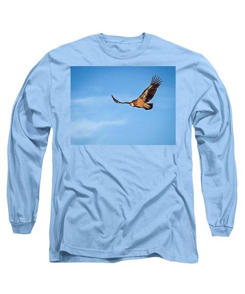 Long Sleeve T-Shirt featuring the photograph Griffon Vulture by Meir Ezrachi