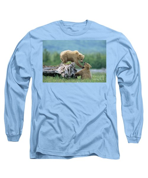 Grizzly Sisters Playing Long Sleeve T-Shirt