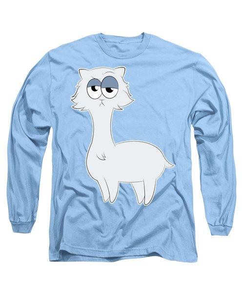 Grumpy Persian Cat Llama Long Sleeve T-Shirt