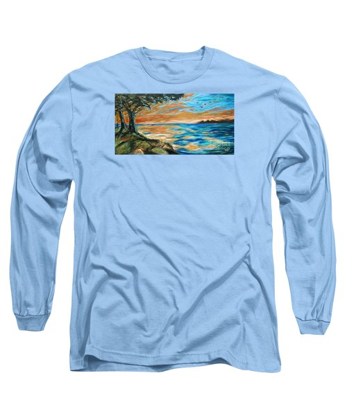 Guana Sunset Long Sleeve T-Shirt by Linda Olsen