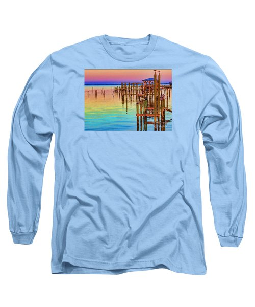 Guarding The Dock Long Sleeve T-Shirt by Roberta Byram