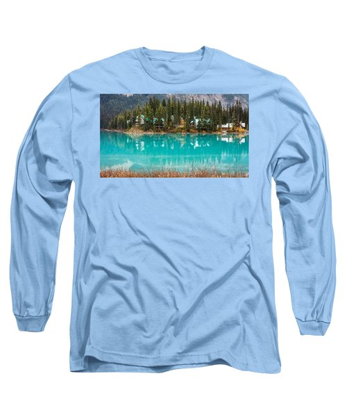 Long Sleeve T-Shirt featuring the photograph Emerald Lake by Pierre Leclerc Photography