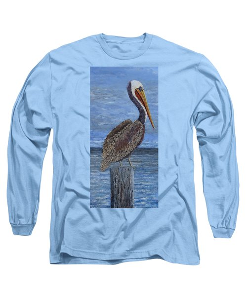 Gulf Coast Brown Pelican Long Sleeve T-Shirt
