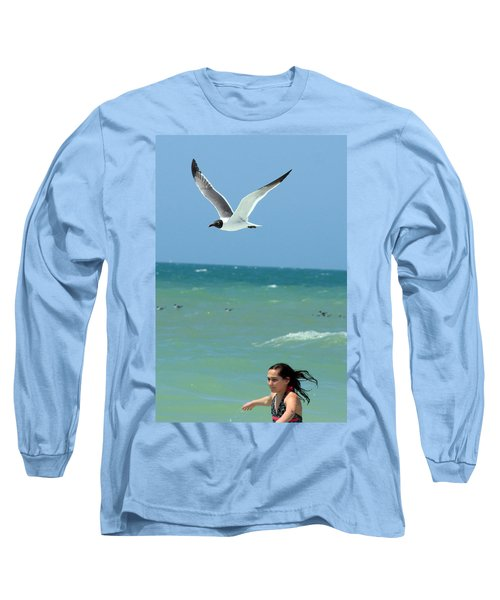 Gull And Girl Long Sleeve T-Shirt