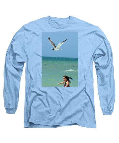 Gull And Girl Long Sleeve T-Shirt