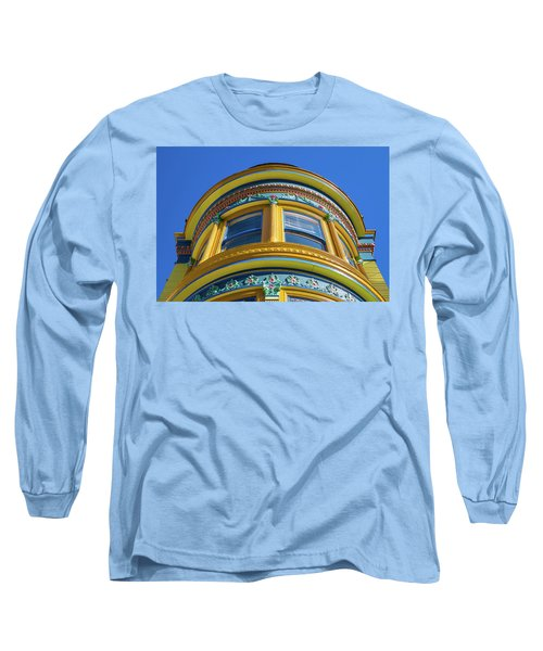 Haight Ashbury Painted Victorian Long Sleeve T-Shirt