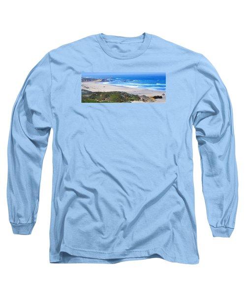 Half Moon Bay Long Sleeve T-Shirt by Holly Blunkall