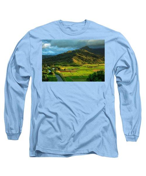 Hanalei Valley Taro Fields Long Sleeve T-Shirt