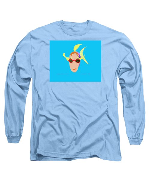 Happy Fish On Vacation Long Sleeve T-Shirt
