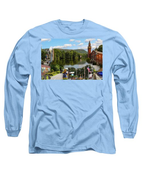 Happy In Easthampton Collage Long Sleeve T-Shirt