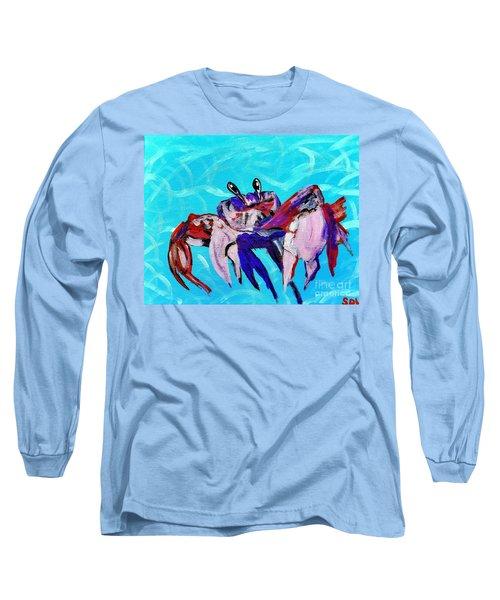 Happy Little Crab  Long Sleeve T-Shirt by Scott D Van Osdol