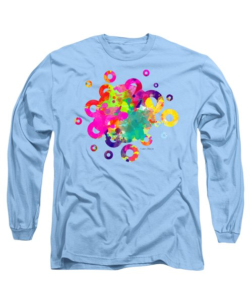 Happy Rings - Tee Shirt Design Long Sleeve T-Shirt by Debbie Portwood