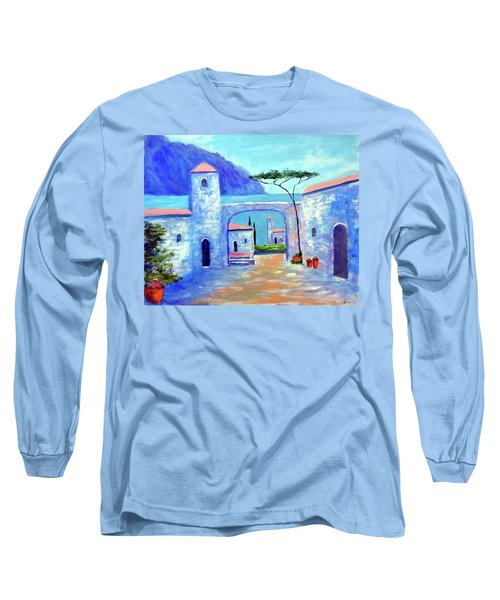 Long Sleeve T-Shirt featuring the painting Harmony Of Como by Larry Cirigliano