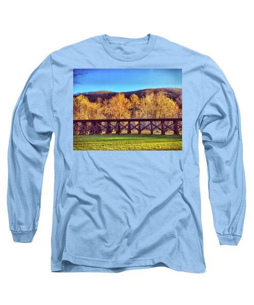 Harpers Ferry Train Tracks Long Sleeve T-Shirt