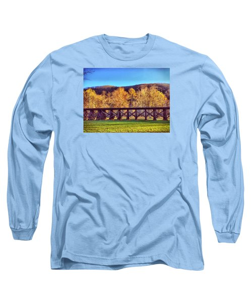 Harpers Ferry Train Tracks Long Sleeve T-Shirt