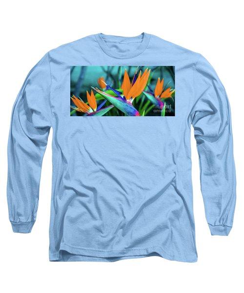 Hawaii Bird Of Paradise Flowers Long Sleeve T-Shirt