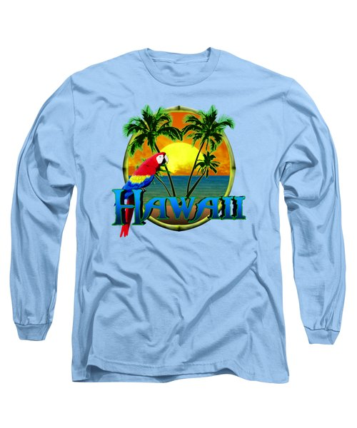 Hawaii Parrot Long Sleeve T-Shirt by Chris MacDonald