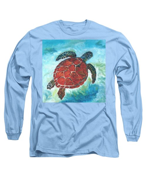 Hawaiian Honu Long Sleeve T-Shirt
