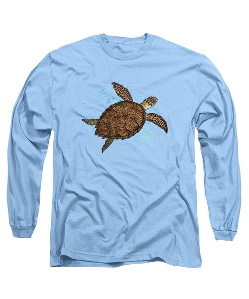 Hawksbill Sea Turtle Long Sleeve T-Shirt by Amber Marine
