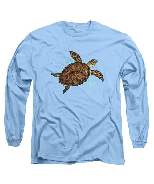 Hawksbill Sea Turtle Long Sleeve T-Shirt