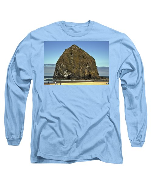 Haystack Rock, Cannon Beach, Or Long Sleeve T-Shirt