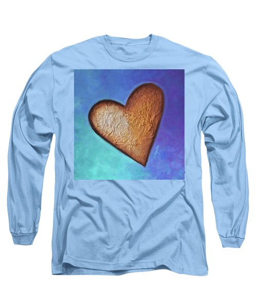 Long Sleeve T-Shirt featuring the painting Heart by Agata Lindquist