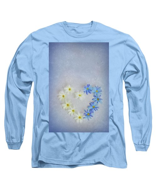 Heart And Flowers Long Sleeve T-Shirt