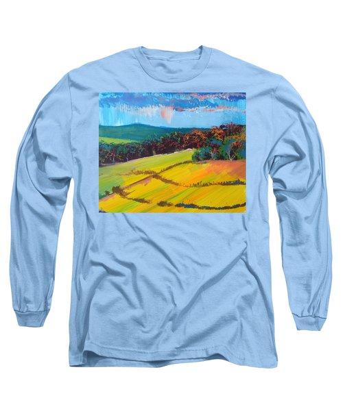 Heavenly Haldon Hills - Devon English Landscape Long Sleeve T-Shirt