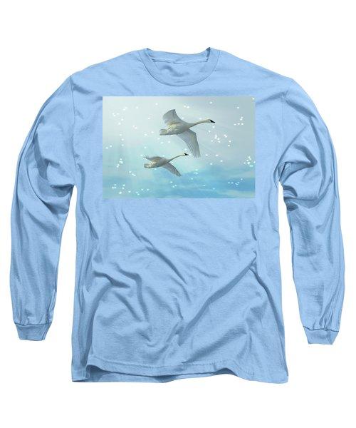 Heavenly Swan Flight Long Sleeve T-Shirt