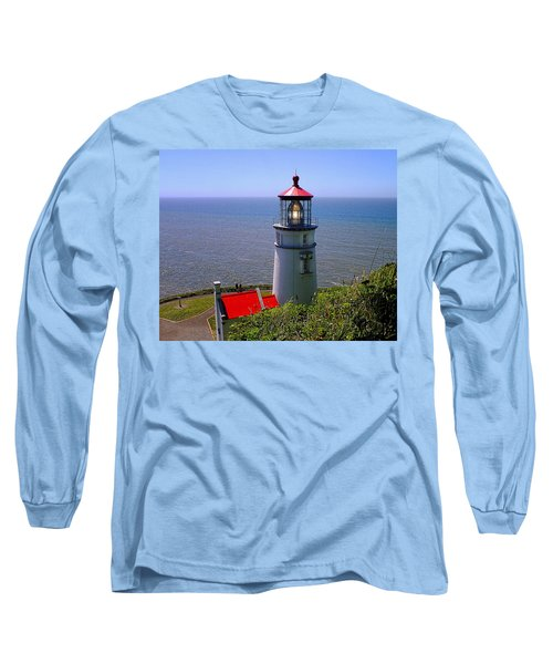 Heceta Head Lighthouse Long Sleeve T-Shirt by Wendy McKennon