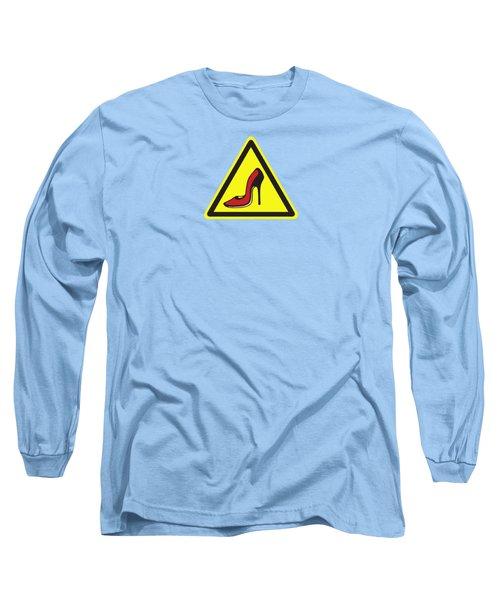 Heels Hazard Long Sleeve T-Shirt by Stan  Magnan