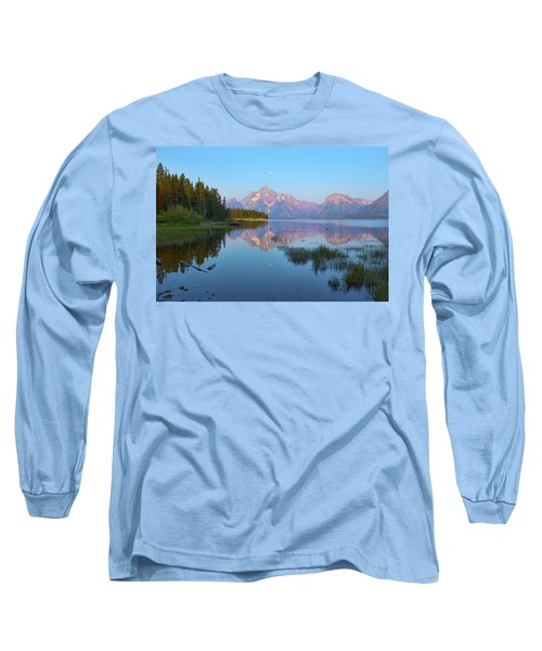 Heron On Jackson Lake Long Sleeve T-Shirt