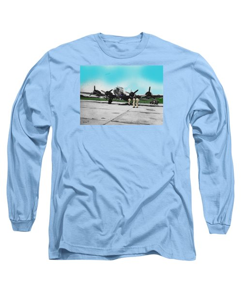 Long Sleeve T-Shirt featuring the digital art Hickam Fort by Walter Chamberlain