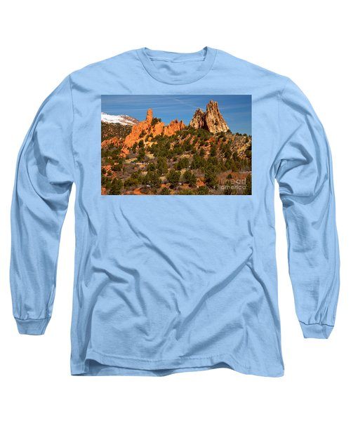 Long Sleeve T-Shirt featuring the photograph High Point Rock Towers by Adam Jewell