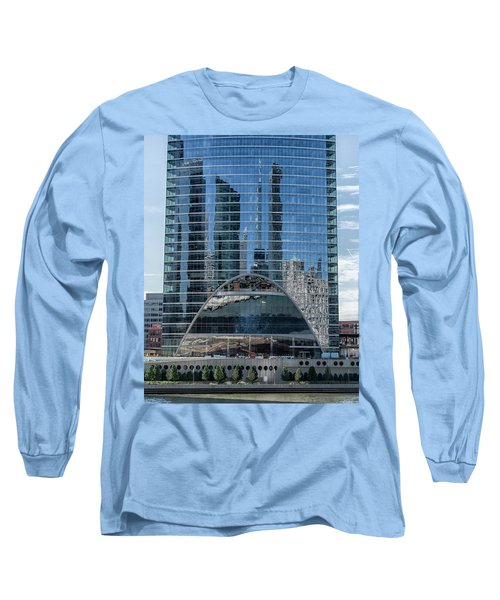 Long Sleeve T-Shirt featuring the photograph High Rise Reflections by Alan Toepfer
