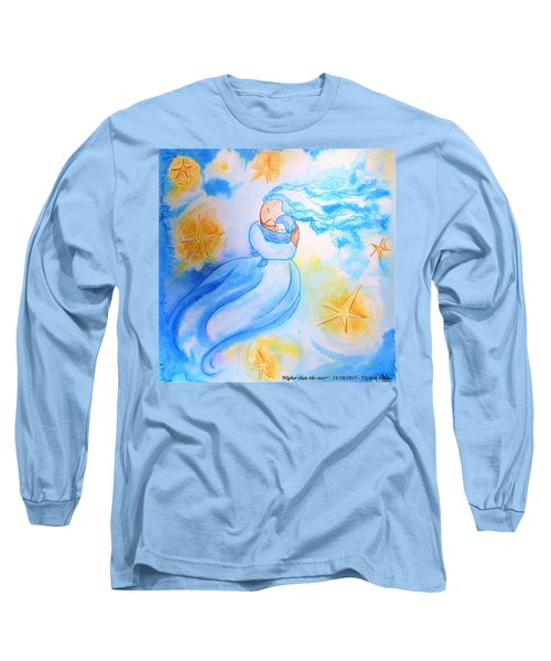 Long Sleeve T-Shirt featuring the painting Higher Then The Stars by Gioia Albano