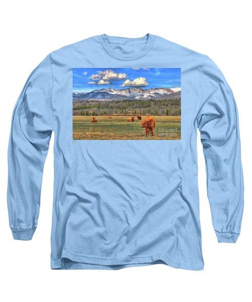 Highland Colorado Long Sleeve T-Shirt by Scott Mahon