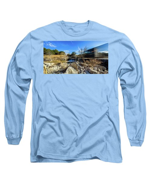 Hill Country Back Road Long Exposure #2 Long Sleeve T-Shirt by Micah Goff