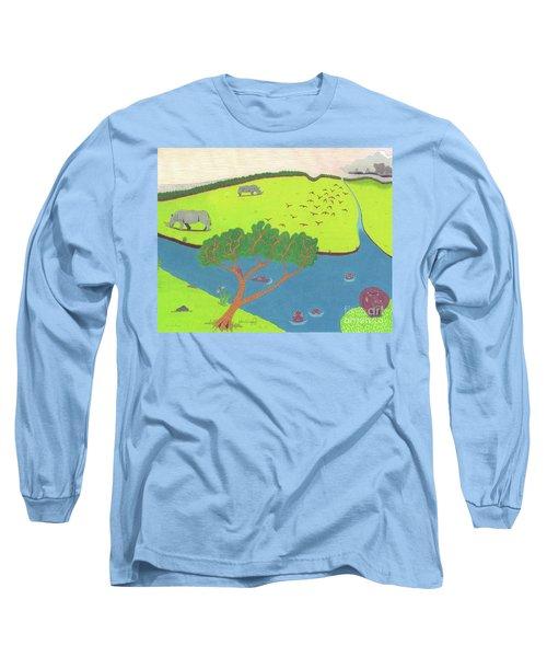 Hippo Awareness Long Sleeve T-Shirt
