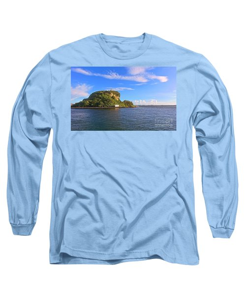 Long Sleeve T-Shirt featuring the photograph Historic Lighthouse On Chijin Island by Yali Shi