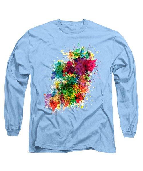 Hodge Podge T-shirt Long Sleeve T-Shirt by Herb Strobino