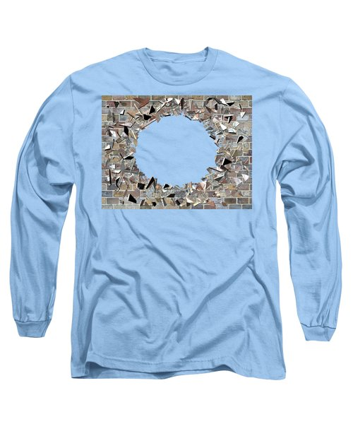 Long Sleeve T-Shirt featuring the digital art Hole In The Wall - Exploding Wal by Michal Boubin