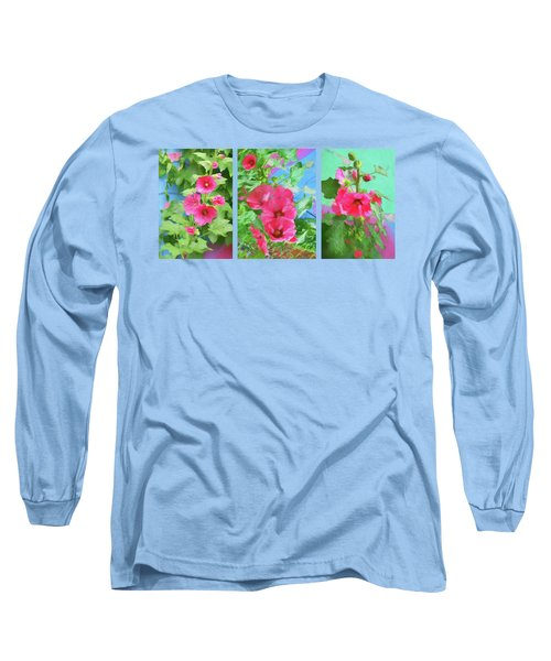 Hollyhock - Triptych Long Sleeve T-Shirt