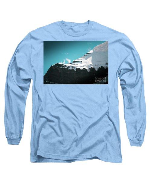 Holy Kailas Fragment Himalayas Tibet Yantra.lv Long Sleeve T-Shirt