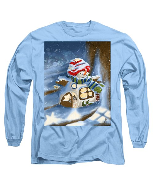 Long Sleeve T-Shirt featuring the painting Home Sweet Home by Veronica Minozzi