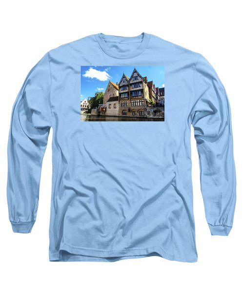 Long Sleeve T-Shirt featuring the photograph Homes Of Bruges by Pravine Chester
